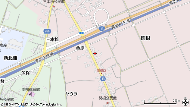 山形県上山市関根24周辺の地図