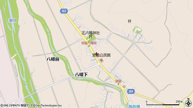 山形県上山市宮脇81周辺の地図