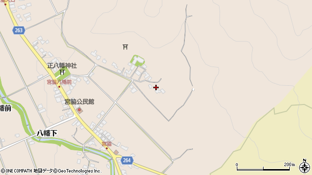 山形県上山市宮脇291周辺の地図