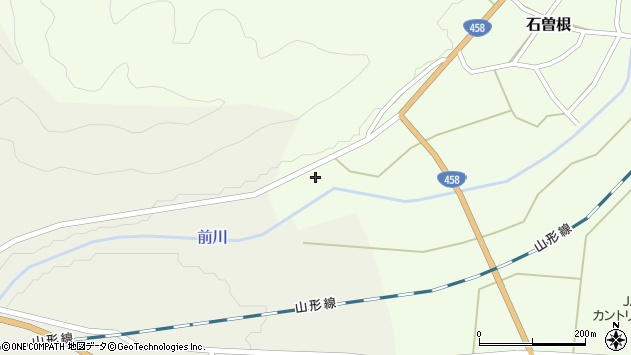 山形県上山市石曽根上河原1223周辺の地図