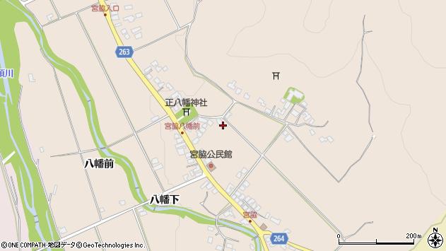 山形県上山市宮脇85周辺の地図