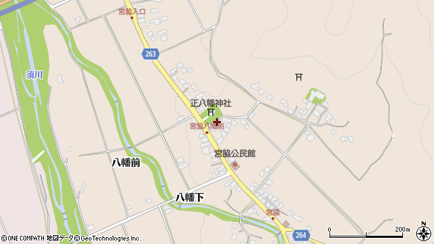 山形県上山市宮脇60周辺の地図