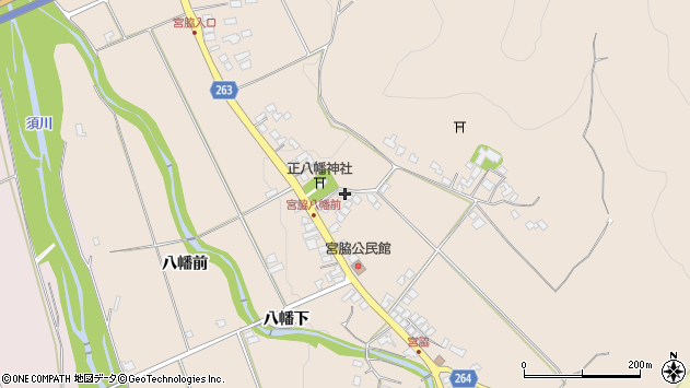 山形県上山市宮脇61周辺の地図