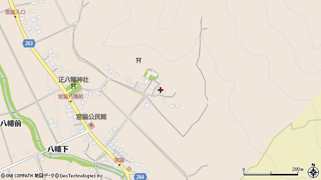 山形県上山市宮脇283周辺の地図