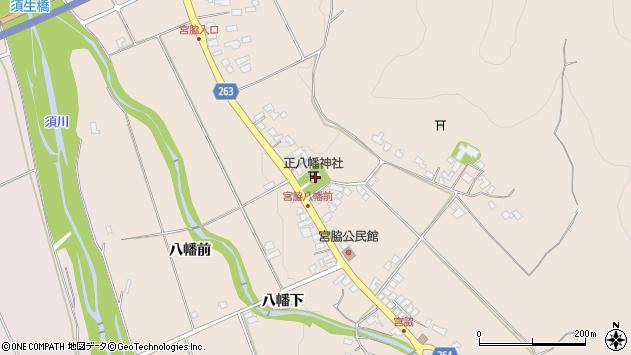 山形県上山市宮脇高野坂周辺の地図