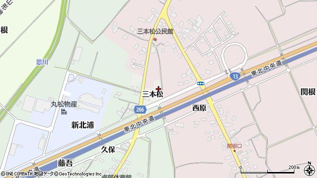 山形県上山市高松三本松1951周辺の地図