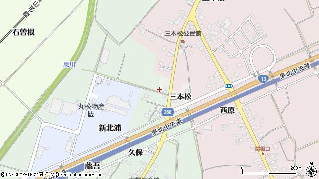 山形県上山市高松三本松992周辺の地図