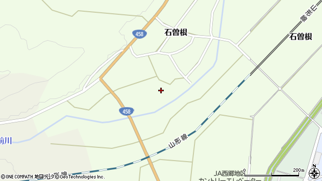 山形県上山市石曽根173周辺の地図