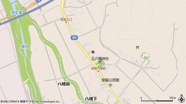 山形県上山市宮脇47周辺の地図