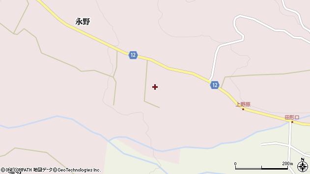 山形県上山市永野アザミ原周辺の地図