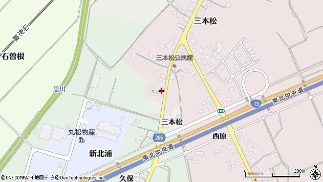 山形県上山市三本松97周辺の地図