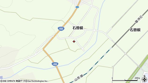 山形県上山市石曽根152周辺の地図