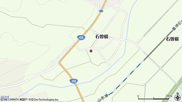山形県上山市石曽根7周辺の地図