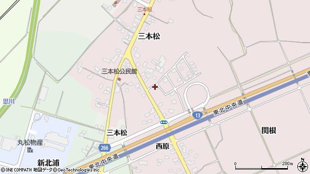 山形県上山市三本松99周辺の地図