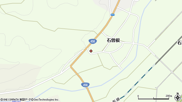 山形県上山市石曽根2周辺の地図