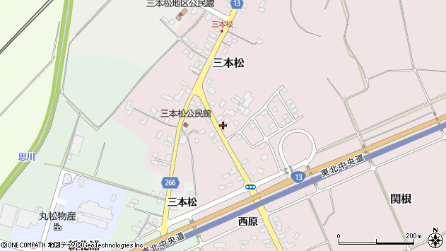 山形県上山市三本松247周辺の地図