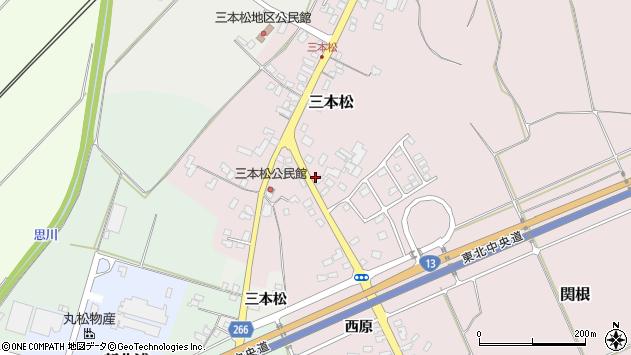 山形県上山市三本松174周辺の地図