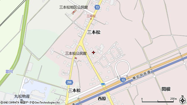 山形県上山市三本松100周辺の地図