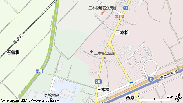 山形県上山市三本松96周辺の地図