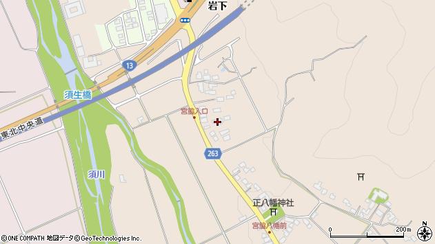 山形県上山市宮脇29周辺の地図