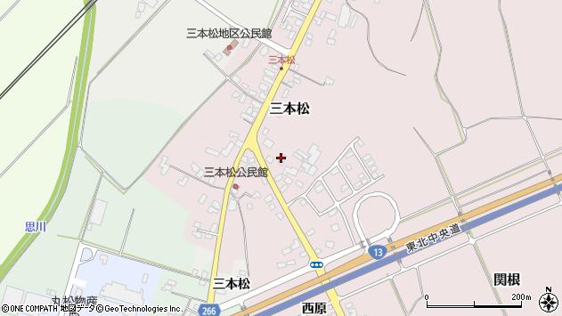 山形県上山市三本松109周辺の地図