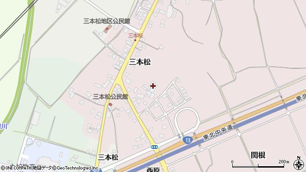 山形県上山市三本松75周辺の地図