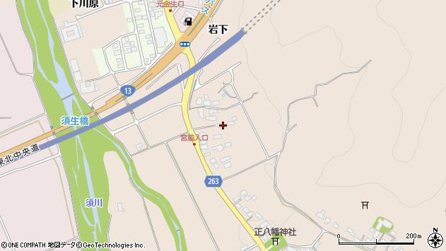 山形県上山市宮脇12周辺の地図
