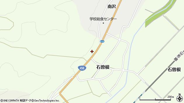 山形県上山市石曽根池沢周辺の地図