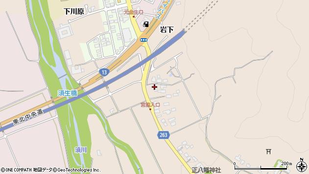 山形県上山市宮脇4周辺の地図