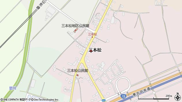 山形県上山市三本松78周辺の地図