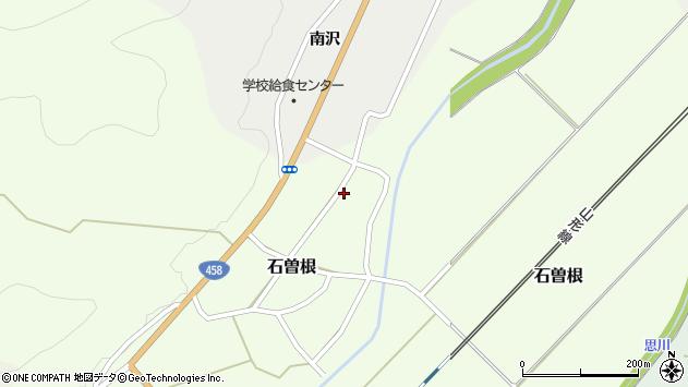 山形県上山市石曽根44周辺の地図