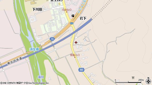 山形県上山市宮脇2周辺の地図