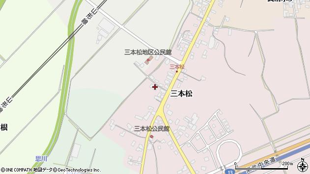 山形県上山市三本松76周辺の地図