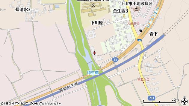 山形県上山市宮脇下川原周辺の地図