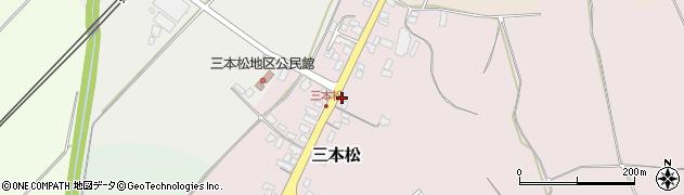 山形県上山市三本松85周辺の地図