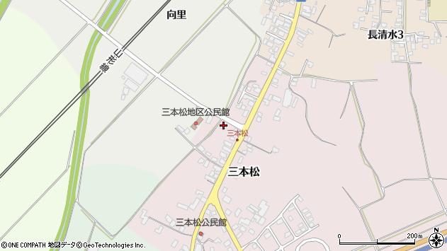 山形県上山市三本松2106周辺の地図