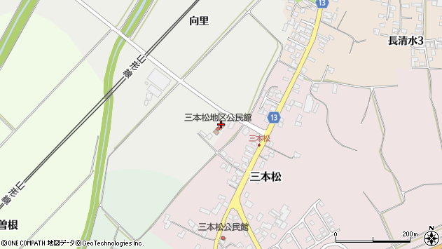 山形県上山市高松向里3182周辺の地図