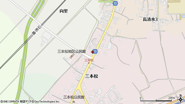 山形県上山市三本松62周辺の地図