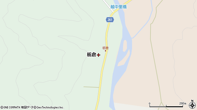 山形県西置賜郡小国町栃倉158周辺の地図