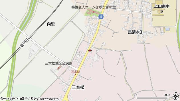 山形県上山市三本松108周辺の地図