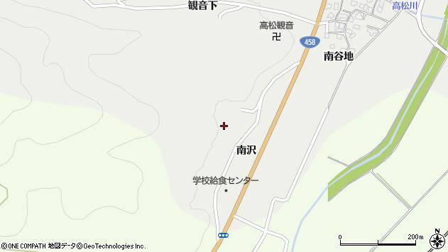 山形県上山市高松南沢周辺の地図
