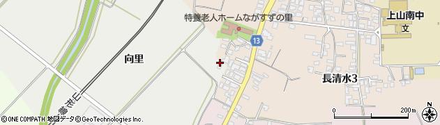 山形県上山市高松向里868周辺の地図