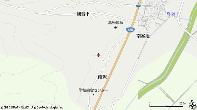 山形県上山市高松南沢1327周辺の地図