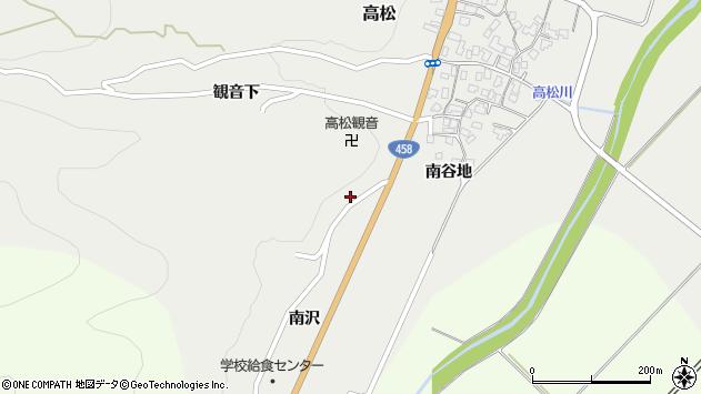 山形県上山市高松南沢2174周辺の地図