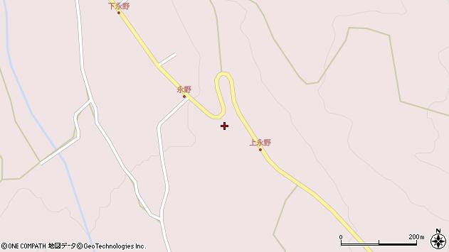 山形県上山市永野25周辺の地図