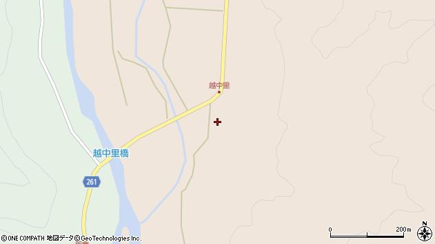 山形県西置賜郡小国町越中里116周辺の地図