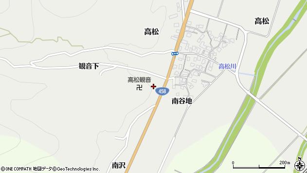 山形県上山市高松2174周辺の地図