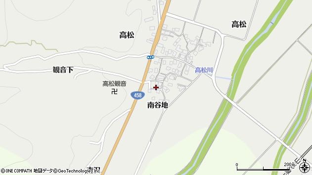 山形県上山市高松71周辺の地図