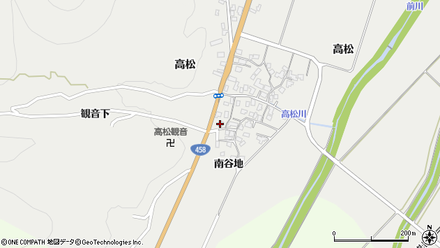 山形県上山市高松67周辺の地図