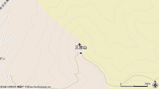 山形県上山市金生高取周辺の地図